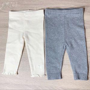 Bundle of 2 baby girl leggings
